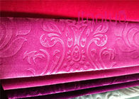 Customized Pattern Jacquard Sofa Fabric / Pink Jacquard Fabric