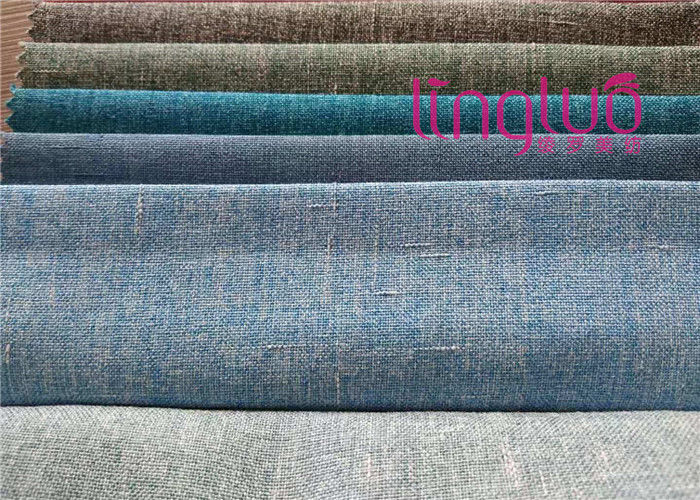 Colorful Plain Cushion Imitation Linen Fabric Heavy And Durable For Furniture