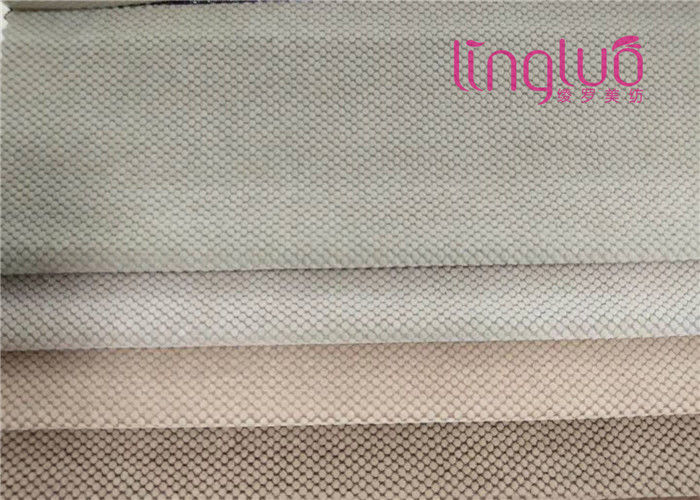 Eco Friendly Durable Sofa Fabric Soft 100% Polyester Flocking Cloth