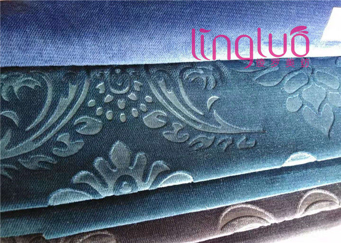 Tear Resistant Jacquard Sofa Fabric Embroidered 100% Polyester