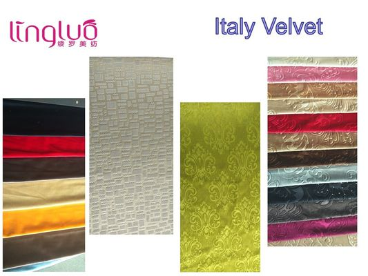 OEM Shiny Fleece Backing Italian Velvet Upholstery Fabric For Sofa